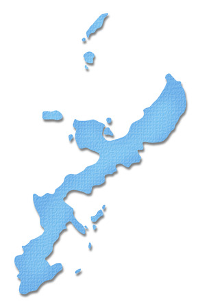 tone: Okinawa Prefecture map of Paper Craft tone