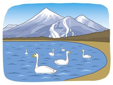 points of interest: Lake Inawashiro and Bandai