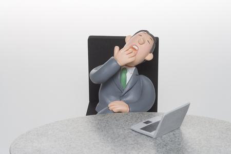 the yawn: The yawn to businessman