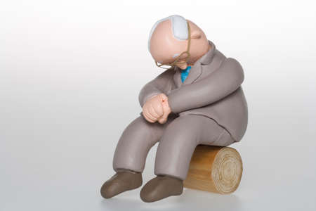 malaise: and Tired businessman Stock Photo