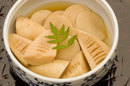 shoots: Boiled bamboo shoots Stock Photo