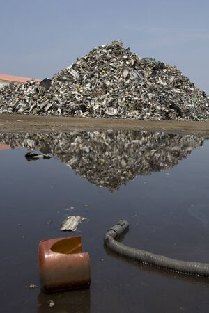 wastes: Industrial waste Stock Photo