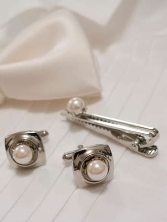 cufflinks: Bow tie and cufflinks Stock Photo