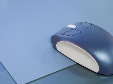 peripherals: Mouse and pad Stock Photo