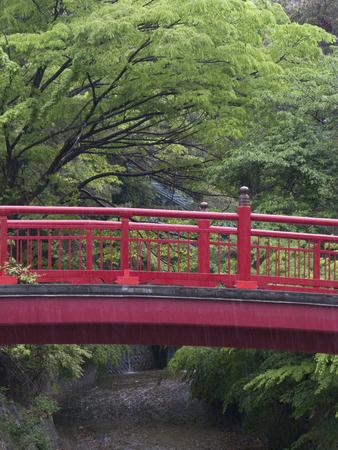 onsen: Nene Bridge Arima Onsen Stock Photo