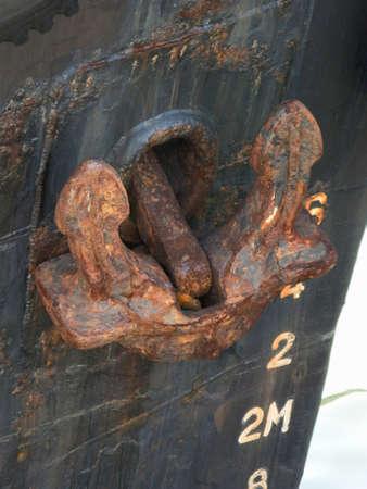 船のアンカー 写真素材