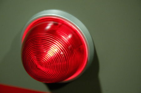 firebox: Emergency bell and lamp Stock Photo