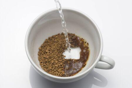 インスタントコーヒー 写真素材