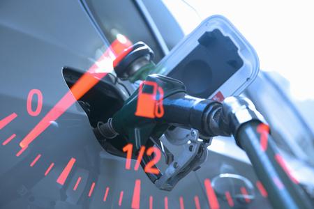 Station d'essence synthétique Banque d'images - 47142925