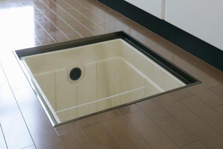 storage: Floor storage of kitchen Stock Photo