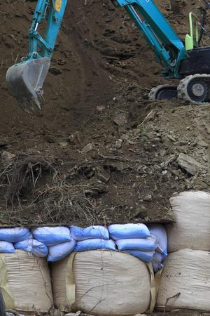 derrumbe: Renovaci�n del colapso bancario Foto de archivo
