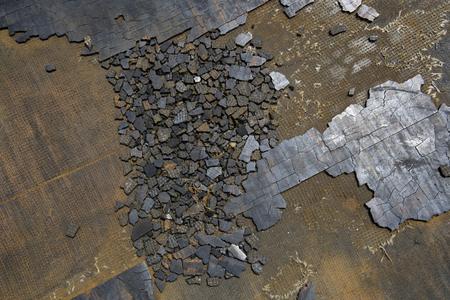 deterioration: The deterioration hardened rubber plate Stock Photo