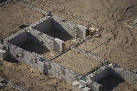 site: Foundation construction site