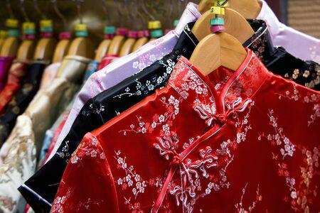 チャイナ ドレス 写真素材