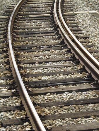 wood railways: Rail Stock Photo
