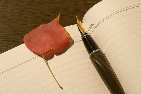 writing utensil: Autumn leaves