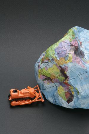 annihilation: Earth annihilation image Stock Photo