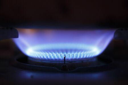 ガスの炎 写真素材