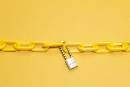 side keys: Chain and key Stock Photo