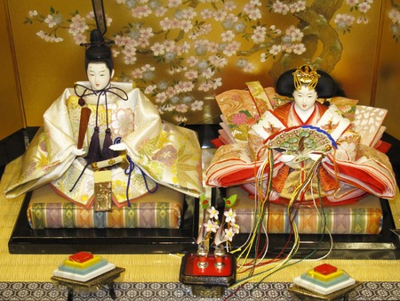 synthesis: Synthesis of Hina dolls Stock Photo
