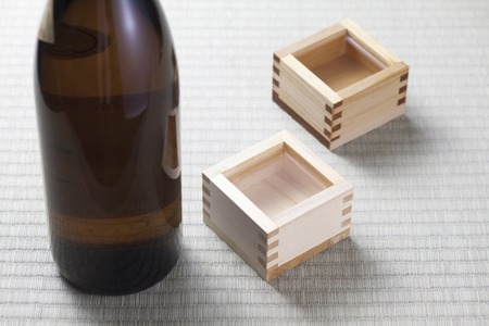 sake: MASU sake Stock Photo