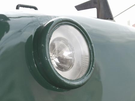 side lighting: Headlight of a train