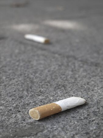 threw: Cigarette litter