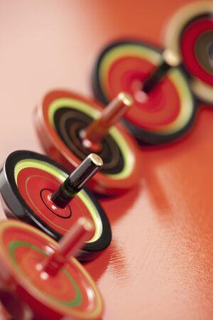 longitudinal: Spinning tops