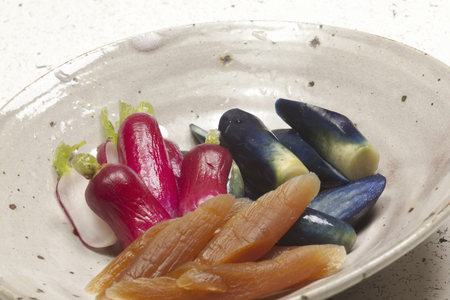 pickles: Traje de Mori de encurtidos Foto de archivo