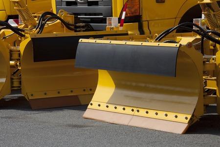heavy equipment: Heavy road construction equipment Stock Photo