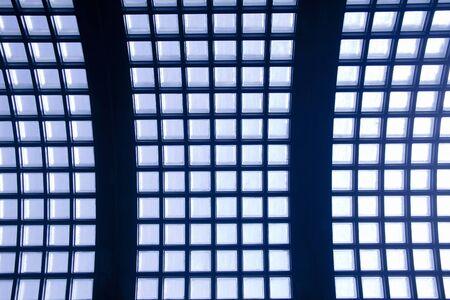 glass block: Roof of glass block