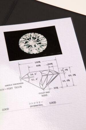 deed: Discrimination deed of diamond Stock Photo