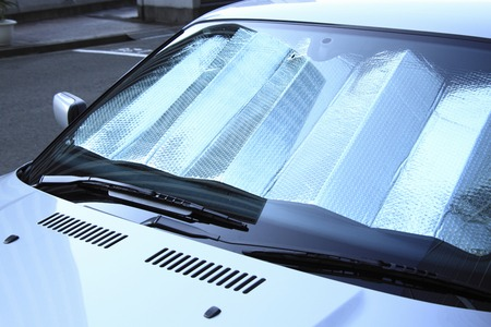 shielding: Car of the light shielding sheet Stock Photo