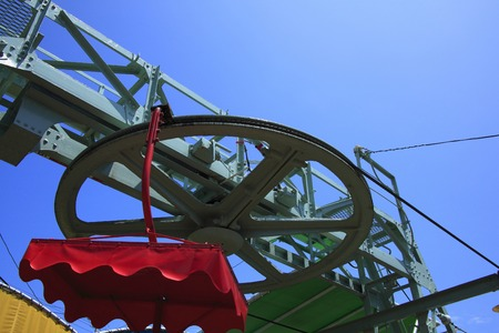 polea: Tourism lift of the pulley Foto de archivo