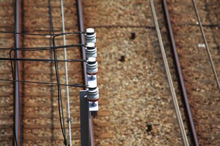 insulator: Insulator and train rail