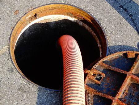 manhole: Release of sewage into the manhole
