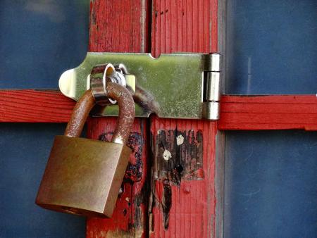 wicket door: Sliding door and key