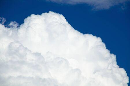 cumulonimbus: Cumulonimbus clouds and blue sky