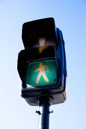 semaforo peatonal: Sem�foro de peatones