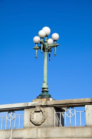 streetlight: Streetlight Naniwabashi Stock Photo