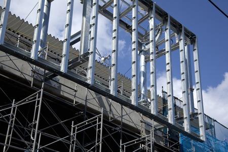 建設中のビル 写真素材