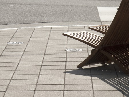 recline: Chair of basking in the sun