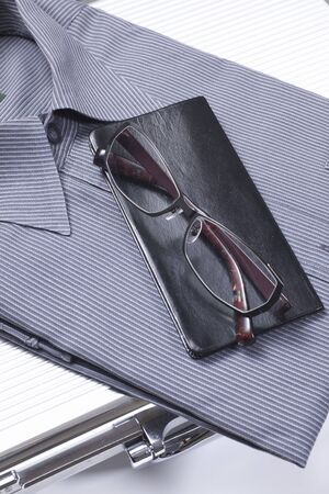 clothes organizer: Necktie and Y-shirt and notebook