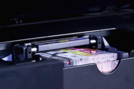 inkjet printer: Of the ink-jet printer ink Stock Photo