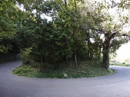 Hairpin curve of the general road