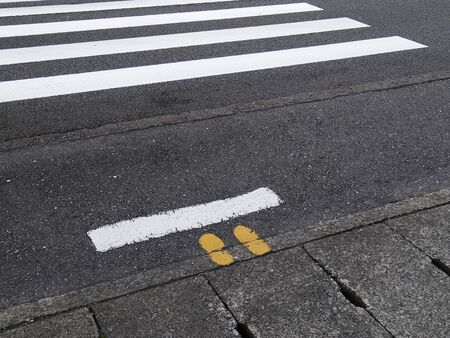 crosswalk: l�nea de parada peatonal del paso de peatones