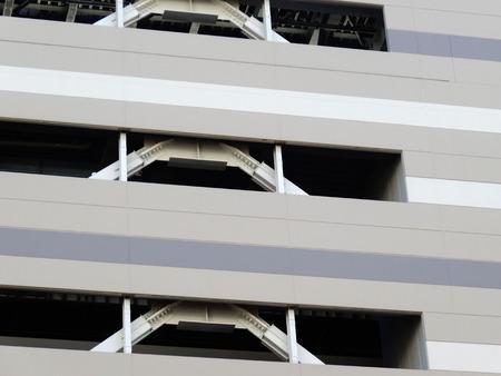 reinforcing: Reinforcing steel parking tower
