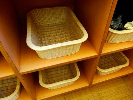 undressing: Undressing basket of bathroom Stock Photo