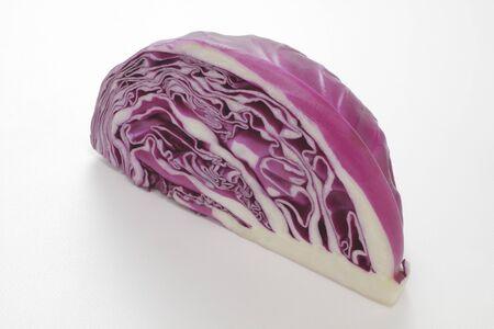 quarter: Purple cabbage quarter ball of Stock Photo