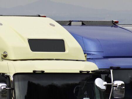 フード トラックの空気抵抗を減らすために 写真素材